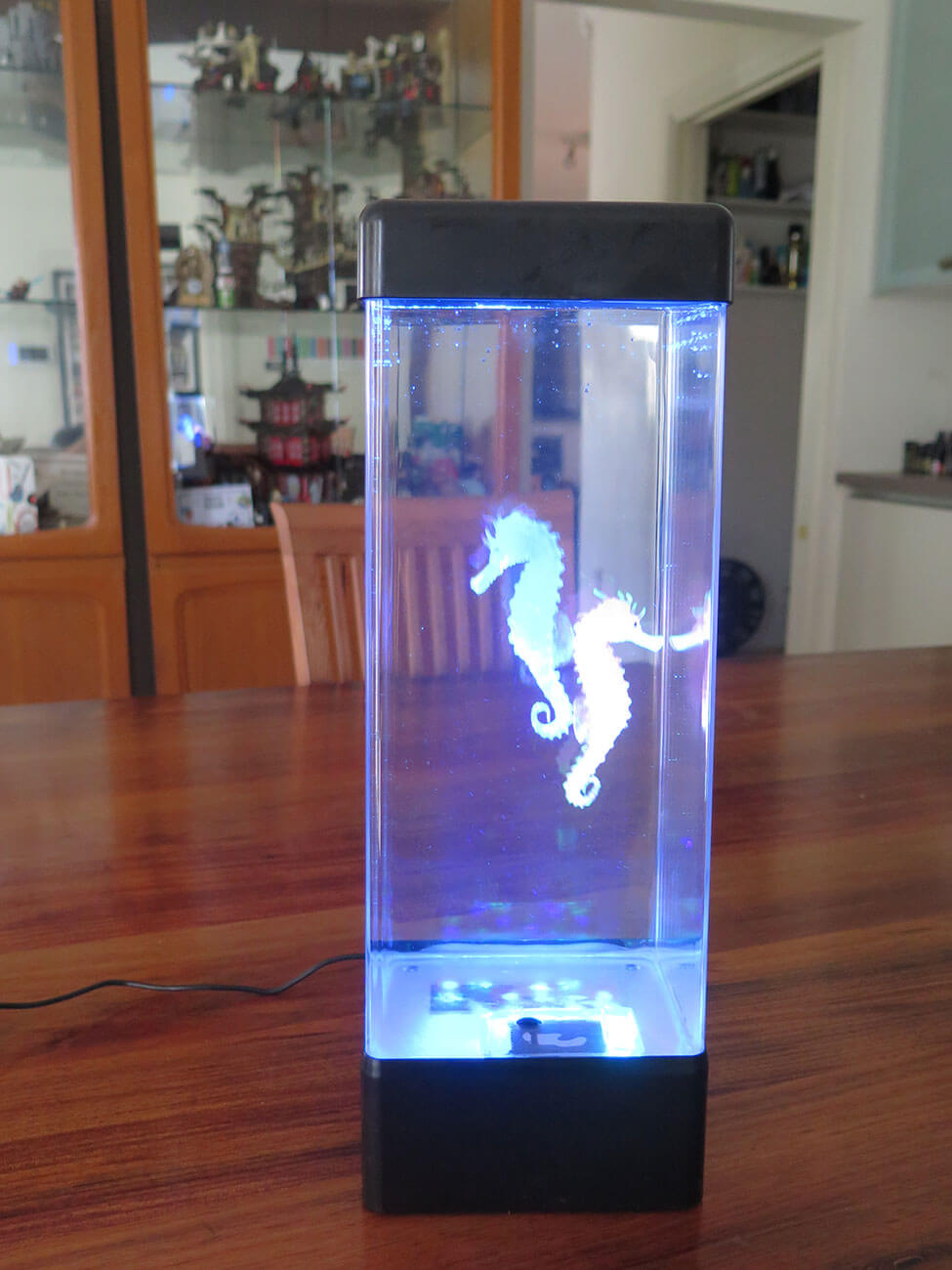 seahorse lava lamp Blue for sale